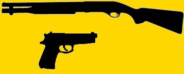 Fusil à pompe et pistolet modernes