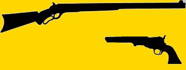 Armes Western, Winchester et revolver à poudre noire